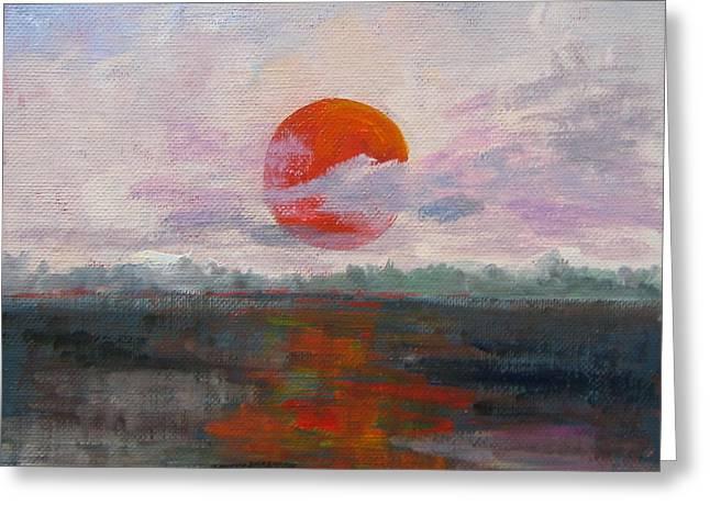 Florida Panhandle Paintings Greeting Cards - El Sol Greeting Card by Susan Richardson