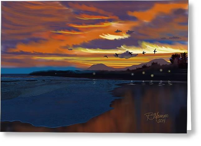 El Salvador Greeting Cards - El Sunzal Sunset El Salvador Greeting Card by Ruben Marinero