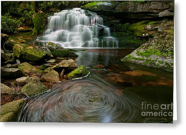 Stream Greeting Cards - Elakala Falls #2  D30010519 Greeting Card by Kevin Funk