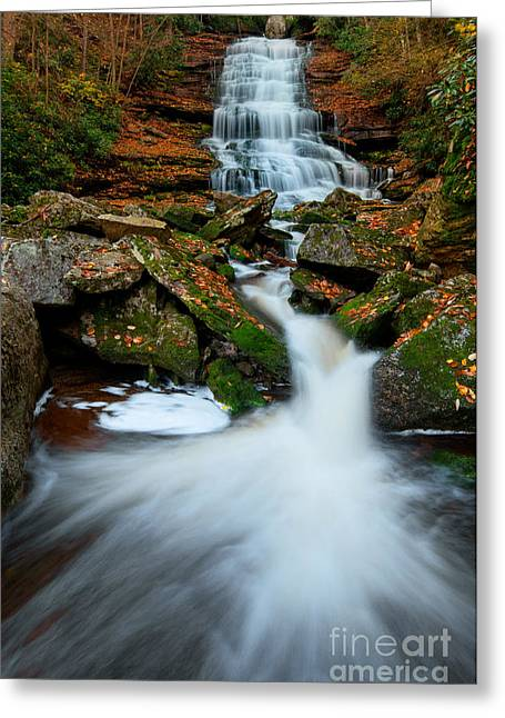 Stream Greeting Cards - Elakala Falls #4 D30016122 Greeting Card by Kevin Funk