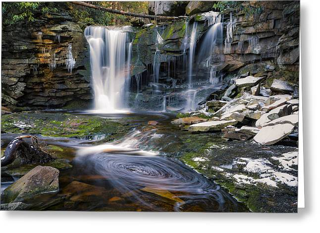 Stream Digital Art Greeting Cards - Elakala falls Greeting Card by Eduard Moldoveanu
