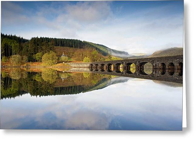 Wales Framed Prints Greeting Cards - Elan Valley in the morning Greeting Card by Stephen Taylor