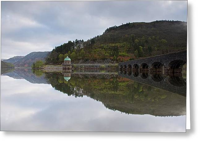 Wales Framed Prints Greeting Cards - Elan Valley rising mist Greeting Card by Stephen Taylor
