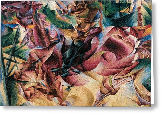 Umberto Boccioni Greeting Cards - Elasticity Greeting Card by Umberto Boccioni
