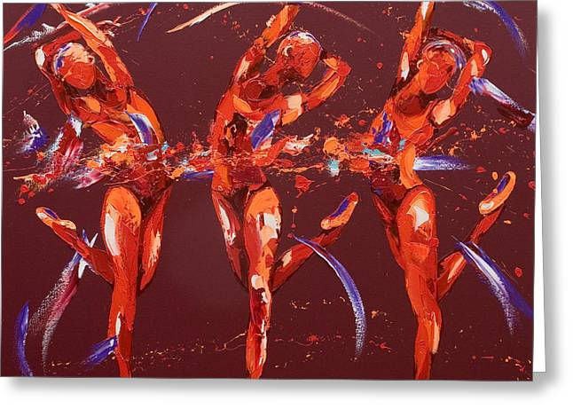 Dancer Art Greeting Cards - Elation Greeting Card by Penny Warden