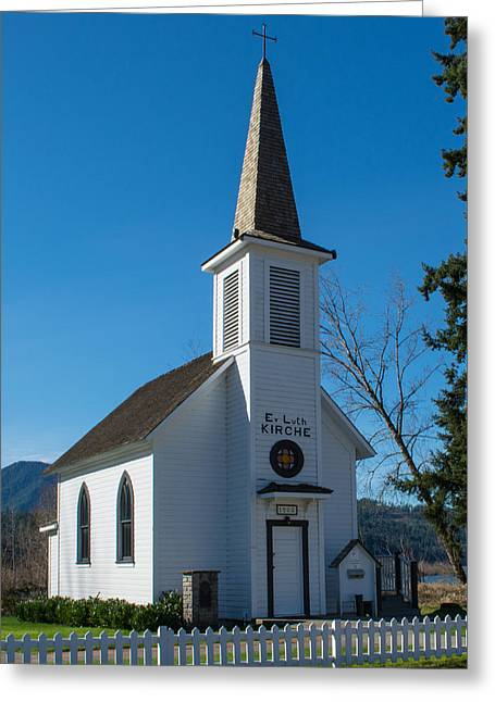 Ev Greeting Cards - Elbe Historic Church Greeting Card by Roger Reeves  and Terrie Heslop