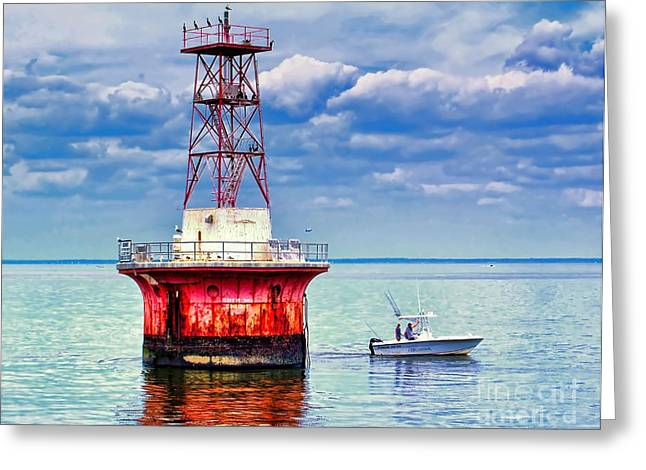 Ledge Photographs Greeting Cards - Elbow of Cross Ledge Light Greeting Card by Nick Zelinsky