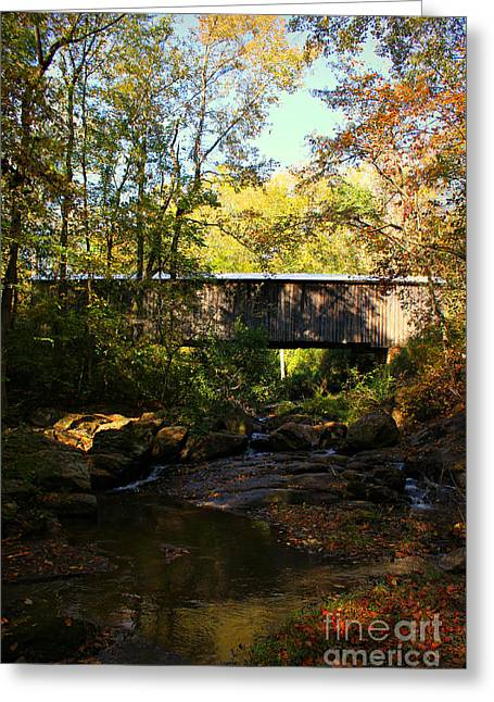 Covered Bridge Greeting Cards - Elder Mill Covered Bridge 2 Greeting Card by Reid Callaway