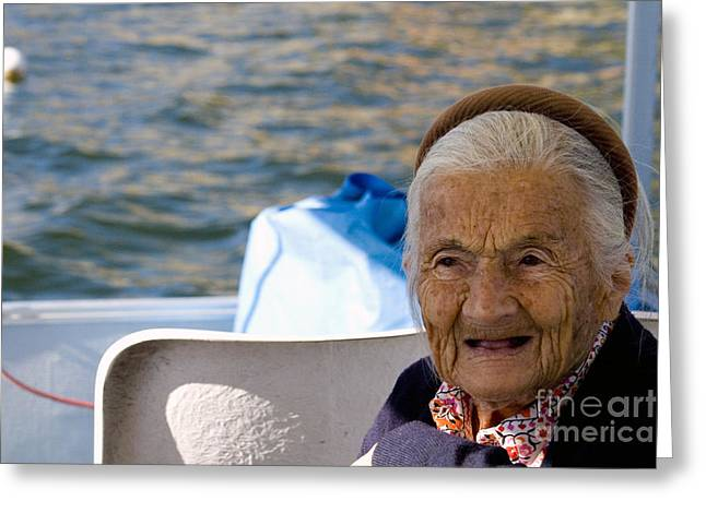 Gray Hair Greeting Cards - Elderly Woman, Italy Greeting Card by Tim Holt