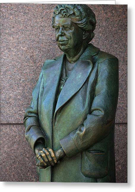 First-lady Greeting Cards - Eleanor Roosevelt Memorial Detail Greeting Card by John Cardamone