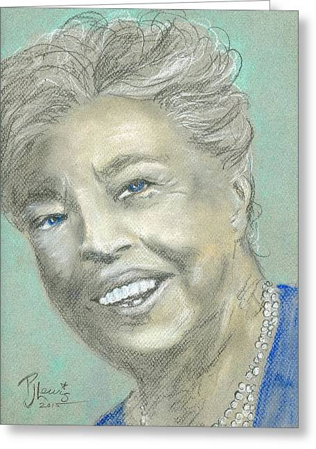 Human Rights Leader Greeting Cards - Eleanor Roosevelt Greeting Card by P J Lewis
