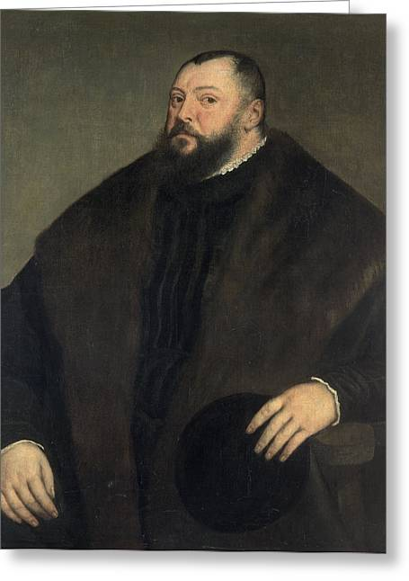 Obese Greeting Cards - Elector Johann Freidrich Ven Sachsen 1503-54, 1550-51 Greeting Card by Titian