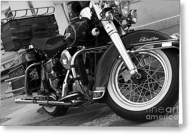 Pannier Greeting Cards - Electra Glide classic Greeting Card by Graham Hawcroft pixsellpix