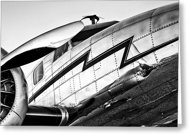 Lockheed Electra Greeting Cards - Electra in Black and White Greeting Card by Chris Buff