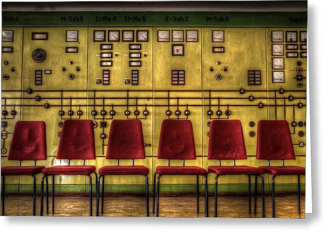 Consoling Digital Art Greeting Cards - Electric chairs Greeting Card by Nathan Wright