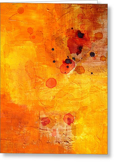 Tangerines Greeting Cards - Electric Chaos Greeting Card by Nancy Merkle