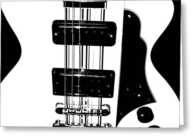 """six String"" Greeting Cards - Electric Deco  Greeting Card by Chris Berry"