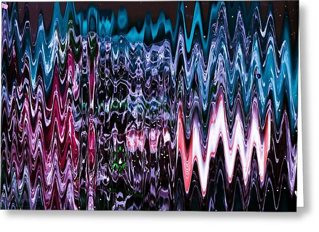 Height Mixed Media Greeting Cards - Electric Ecstacy  Greeting Card by Anne-Elizabeth Whiteway
