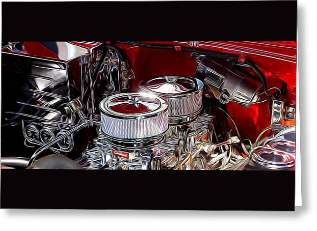 Automotive Greeting Cards - Pride Under The Hood Greeting Card by Thom Zehrfeld