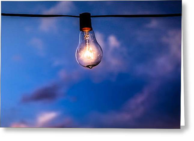 Edison Greeting Cards - Electric Evening Greeting Card by Samuel Sinz