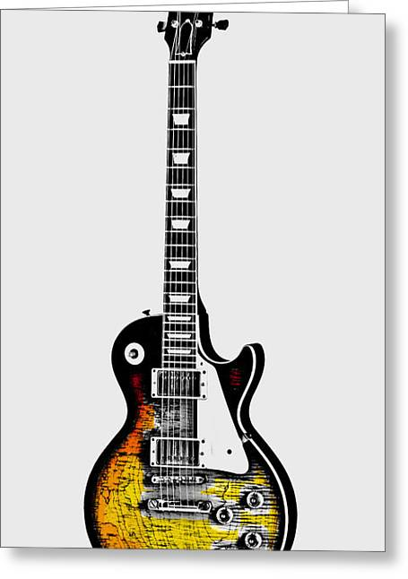 Picking Digital Art Greeting Cards - Electric Guitar Greeting Card by Daniel Hagerman