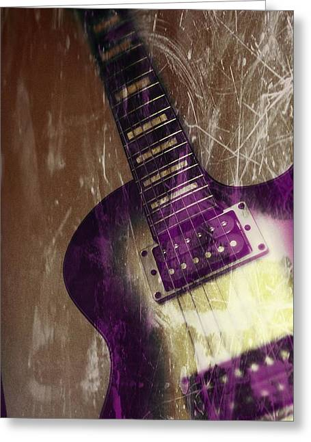Electric Guitar Greeting Cards - Electric Guitar - In the Studio Greeting Card by Brian Howard