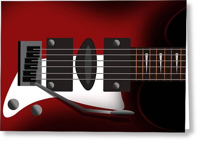 Electric Guitar Greeting Card by Mark Ashkenazi