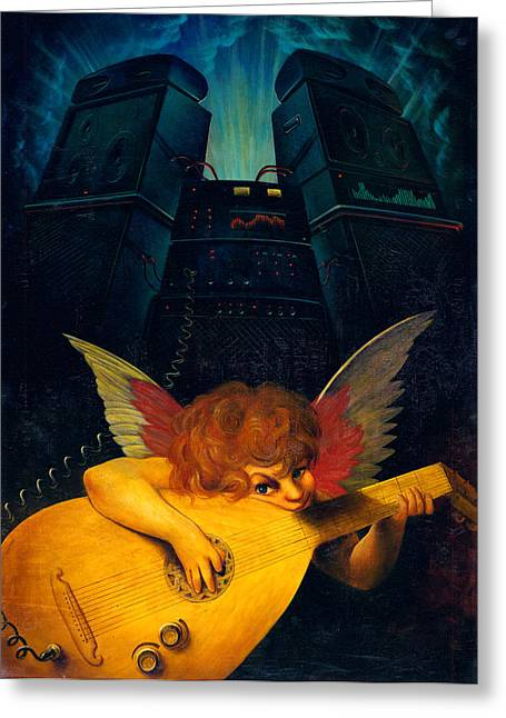 Rock N Roll Greeting Cards - Electric Lute Greeting Card by Garry Walton