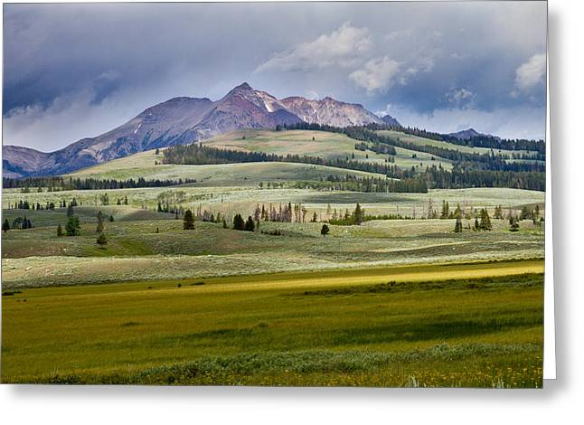 Bill Gallagher Photography Greeting Cards - Electric Peak Greeting Card by Bill Gallagher