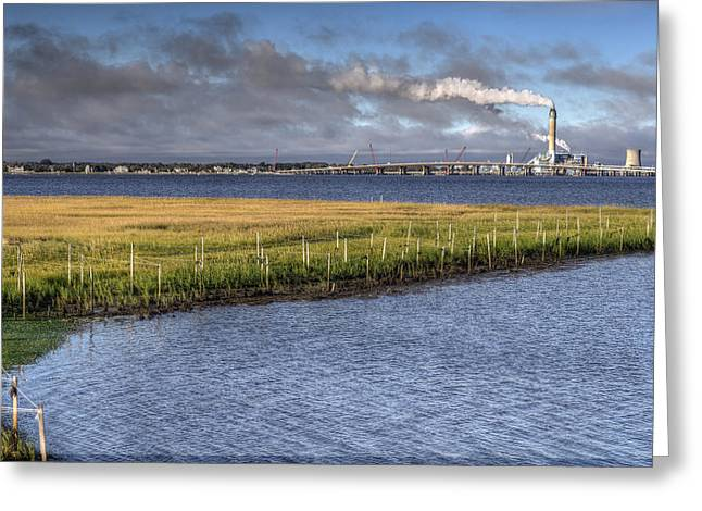 Jerseyshore Greeting Cards - Electric Plant Greeting Card by Al Hurley