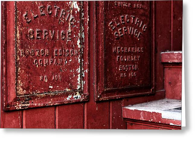 Electric Service in Boston Greeting Card by John Rizzuto