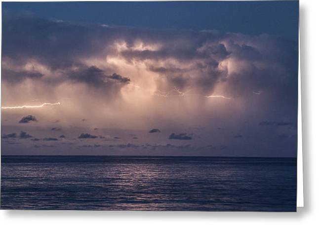 Ocean Panorama Greeting Cards - Electric Skys Greeting Card by Brad Scott