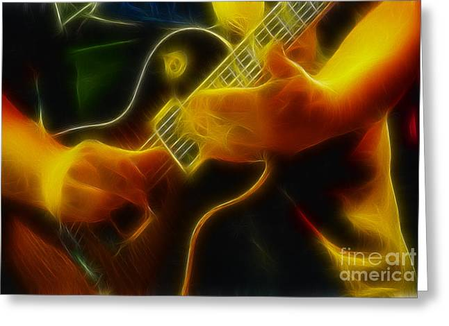 Electric Slide Fractal Greeting Card by Gary Gingrich Galleries
