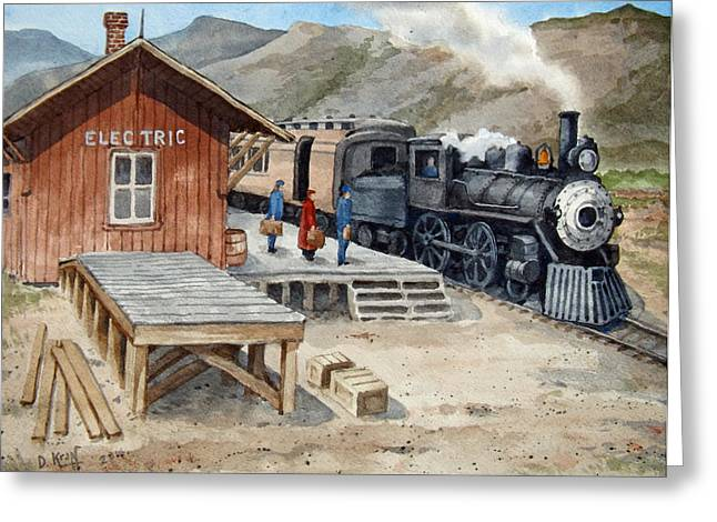 Scenes Ceramics Greeting Cards - Electric Station Yellowstone Spur Greeting Card by Dan Krapf