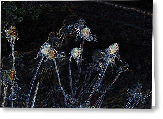 Hallucination Greeting Cards - Electric Stems Greeting Card by Don Durante Jr