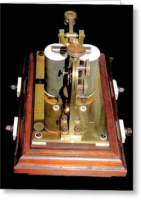 Electric Telegraph Reel Greeting Card by Universal History Archive/uig