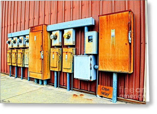 Current Control Greeting Cards - Electrical Boxes I Greeting Card by Debbie Portwood