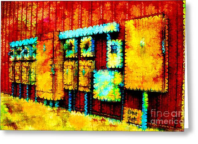 Current Control Greeting Cards - Electrical Boxes III Greeting Card by Debbie Portwood