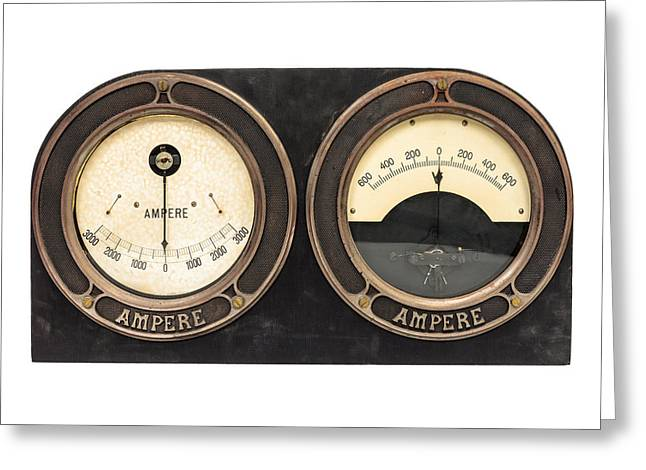 Electrical Meter Greeting Cards - Electrical Greeting Card by Martin Bergsma