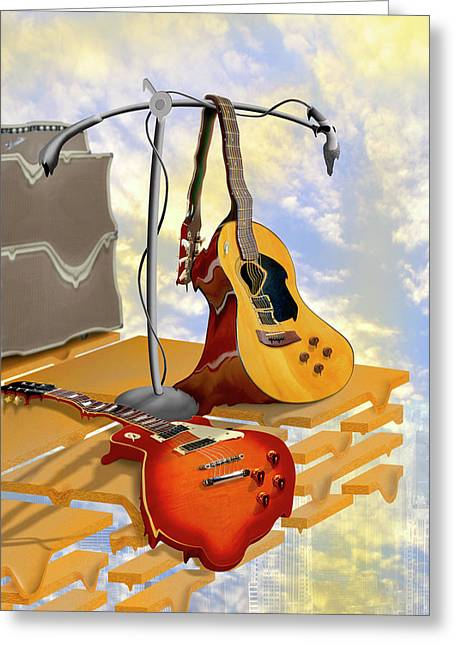 Electric Guitar Greeting Cards - Electrical Meltdown Greeting Card by Mike McGlothlen