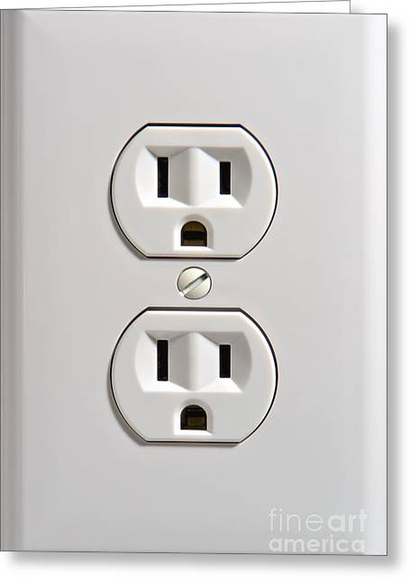 Polarizing Greeting Cards - Electrical Outlet Greeting Card by Olivier Le Queinec