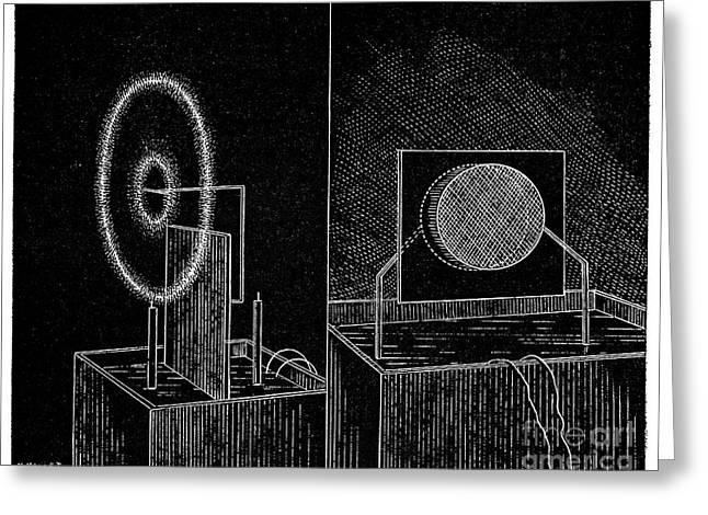 Electrical Phenomena, 19th Century Greeting Card by Spl