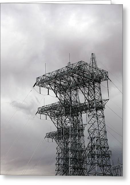 Electrical Transmission Tower Greeting Card by Jim West
