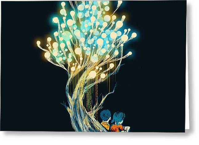 ElectriciTree Greeting Card by Budi Satria Kwan