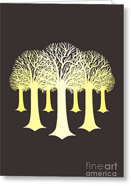 Brown Tones Digital Greeting Cards - Electricitrees Greeting Card by Freshinkstain