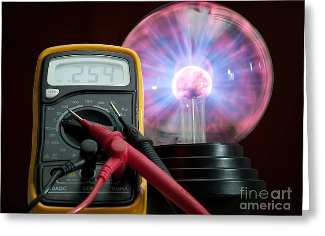 Technical Photographs Greeting Cards - Electricity control Greeting Card by Sinisa Botas