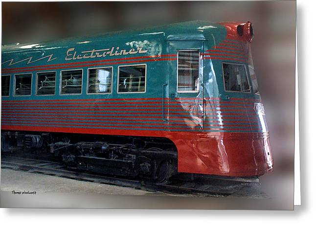 Central Il Greeting Cards - Electro Liner Greeting Card by Thomas Woolworth
