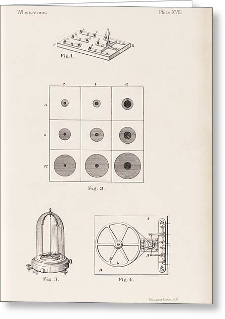 Sir Charles Greeting Cards - Electro-optical research, 19th century Greeting Card by Science Photo Library