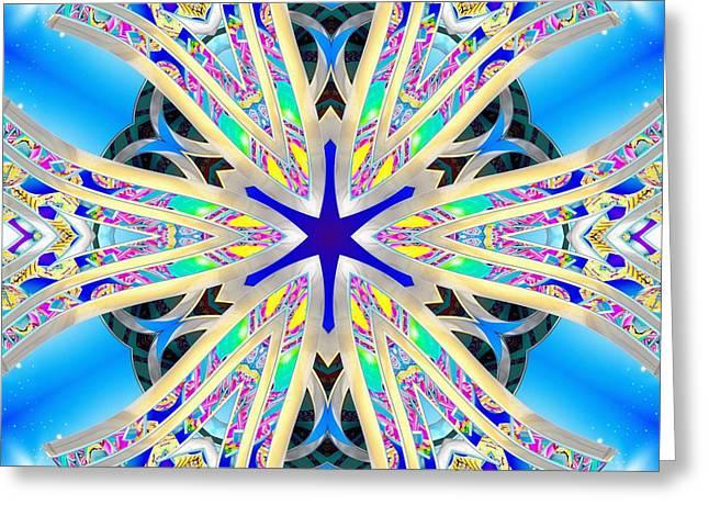 Geometric Image Greeting Cards - Electromagnetic Liquid Greeting Card by Derek Gedney