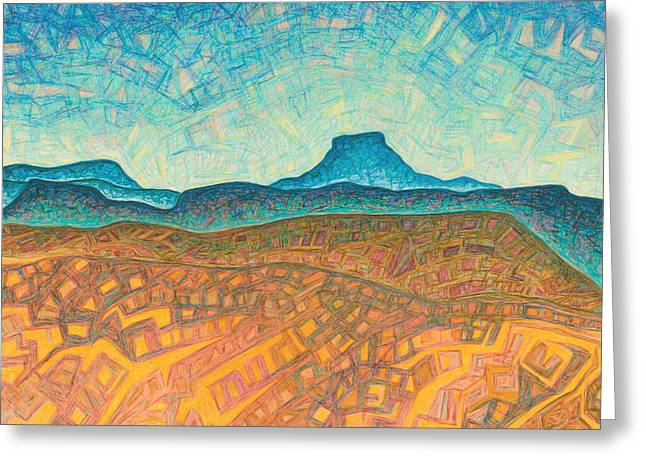 Santa Fe Pastels Greeting Cards - Electromagnetic observation Greeting Card by Dale Beckman